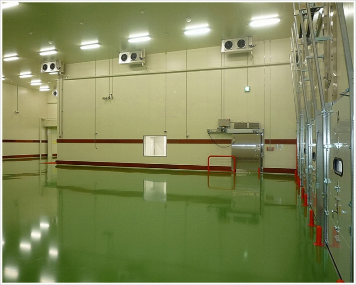 グリーンの塗床