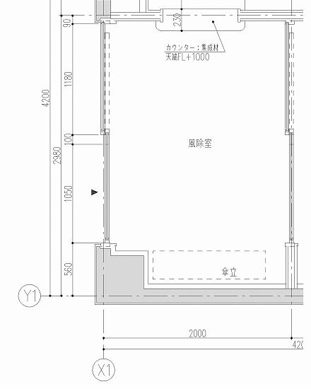 風除室の平面図