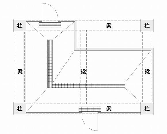 サンプルの厨房平面図