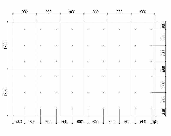 セパ割の一例(ピッチ600)